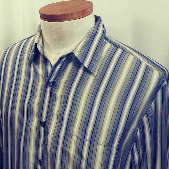 17c6946d6 Tommy Bahama Shirts | Ls 100 Silk Striped Mens Shirt | Poshmark